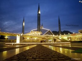Shah Faisal Mosque ,Night View