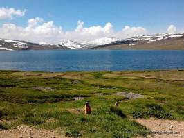 Deosai Lake or Sheosar Lake is located near the Chilim Valley on the Deosai Plains Gilgit-Baltistan Pakistan
